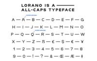 10 typographies gratuites à découvrir et à télécharger - Font de Lorano créé par Valerio Dell'Edera