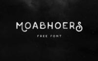 10 typographies gratuites à découvrir et à télécharger - Typos Moabhoers réalisés par Agga Swistblnk