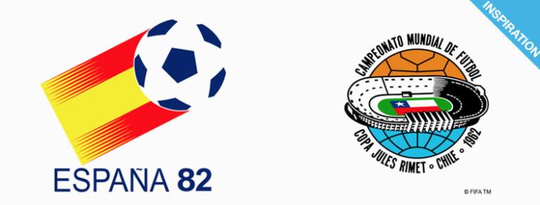 INSPIRATION - Logos de coupe du monde de Football de 1930 à 2018