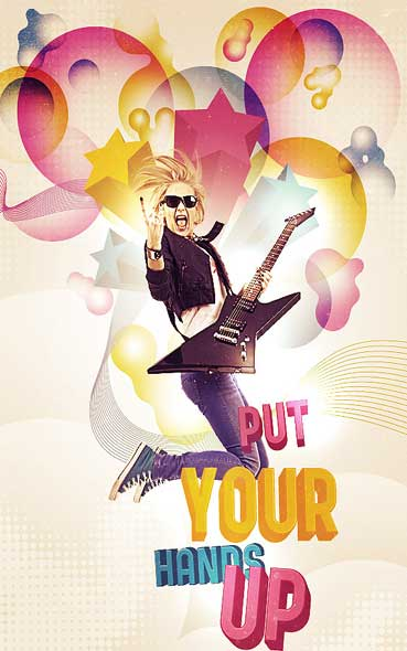 inspiration tuto de création affiches publicitaires - tutoriel photoshop by Design Instruct