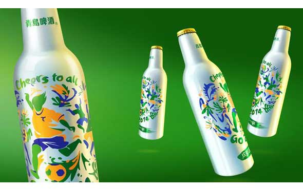 Inspiration de packaging de boissons de coupe du monde