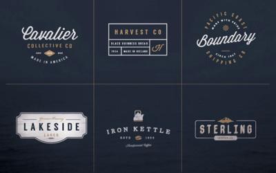 Kits de création de logo gratuit à télécharger - Les retros & vintages