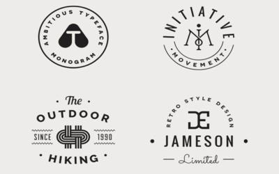 Kits de création de logo gratuit à télécharger - Les monogrammes