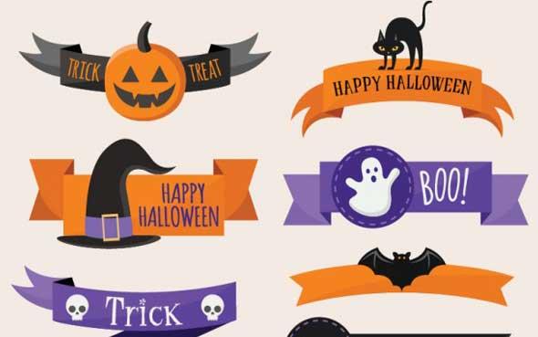 20 ressources graphiques spécial Halloween à télécharger - Les bannières personnalisées pour Halloween