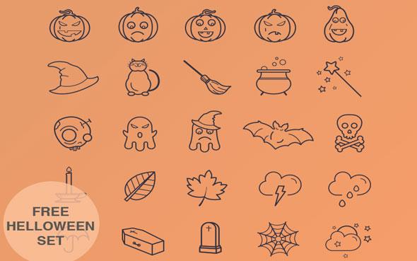 20 ressources graphiques spécial Halloween à télécharger - Les icônes d'Halloween
