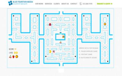 404 PACMAN - 10 pages 404 à s'inspirer pour son site internet