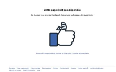 404 FACEBOOK - 10 pages 404 à s'inspirer pour son site internet