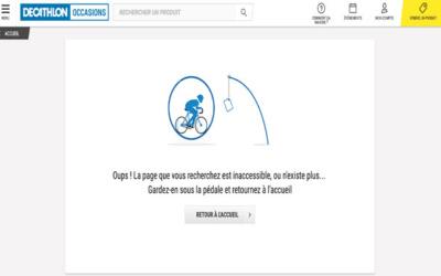 404 DECATHLON - 10 pages 404 à s'inspirer pour son site internet